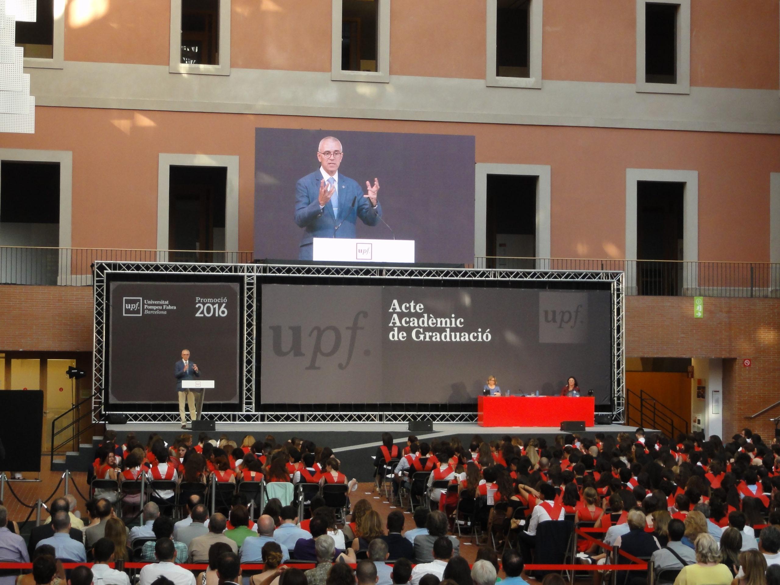 Acto Académico de Graduación 2016 en la UPF